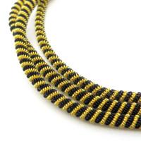 Neelansh Exports KAN/DNA3,5-01 Канитель мягкая, витая KAN/DNA3,5-01  матовый, золото и черный , 1 г