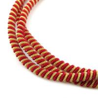 Neelansh Exports KAN/DNA3,5-02 Канитель мягкая, витая KAN/DNA3,5-02  матовый, золото и красный , 1 г