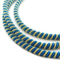 Neelansh Exports KAN/DNA3,5-03 Канитель мягкая, витая KAN/DNA3,5-03  матовый, золото и циан , 1 г