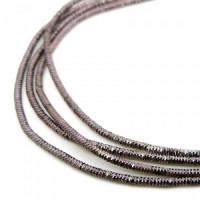 Neelansh Exports KAN/MN1-22 Канитель (трунцал) мягкая, фигурная KAN/MN1-22  глянец, графит , 1 г
