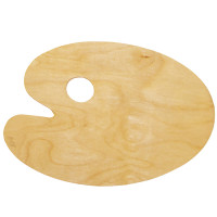 НЕВСКАЯ ПАЛИТРА DK18442 Палитра для рисования, деревянная, овальная, 20х30 см, толщина 3 мм, DK18442