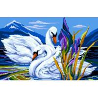NITEX 7704910 Набор для вышивания Nitex 'Лебеди', 45х33 см В-0005