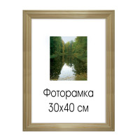 "NO NAME 0065-15-0000 Рамка премиум 30х40 см, дерево, багет 26 мм, ""Linda"", светло-коричневая, 0065-15-0000"