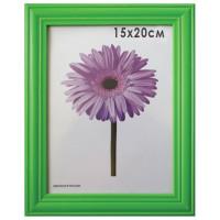 "NO NAME 0065-6-0008 Рамка премиум 15х20 см, дерево, багет 26 мм, ""Linda"", зеленая, подставка, 0065-6-0008"