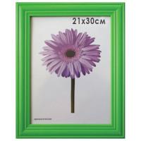 "NO NAME 0065-8-0008 Рамка премиум 21х30 см, дерево, багет 26 мм, ""Linda"", зеленая, 0065-8-0008"