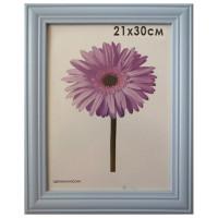 "NO NAME 0065-8-0015 Рамка премиум 21х30 см, дерево, багет 26 мм, ""Linda"", голубая, 0065-8-0015"