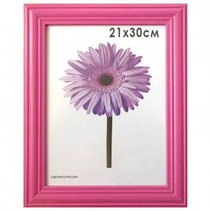 "Рамка премиум 21х30 см, дерево, багет 26 мм, ""Linda"", малиновая, 0065-8-0020 (арт. 0065-8-0020)"
