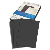GBC 040010/4401980 Обложки картонные для переплета А4, КОМПЛЕКТ 100 шт., тиснение под кожу, 250 г/м2, черные, GBC, 040010/4401980
