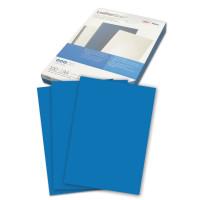 GBC 040020/4401981 Обложки картонные для переплета А4, КОМПЛЕКТ 100 шт., тиснение под кожу, 250 г/м2, синие, GBC, 040020/4401981