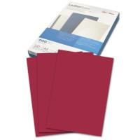 GBC 040031/4401982 Обложки картонные для переплета А4, КОМПЛЕКТ 100 шт., тиснение под кожу, 250 г/м2, темно-красные, GBC, 040031/4401982