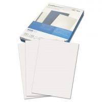 GBC 040070/4401979 Обложки картонные для переплета А4, КОМПЛЕКТ 100 шт., тиснение под кожу, 250 г/м2, белые, GBC, 040070/4401979
