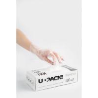 NO NAME  Перчатки полиэтиленовые одноразовые 250 пар (500 шт.) размер L, коробка-диспенсер, плотные