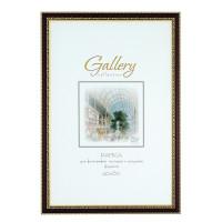 "NO NAME 644858-17 Рамка бизнес-класса 40х60 см, пластик, багет 28 мм, ""Gallery"", орех с позолотой, 644858-17"