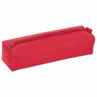 ПИФАГОР 104387 Пенал-тубус ПИФАГОР на молнии, текстиль, красный, 20х5 см, 104387