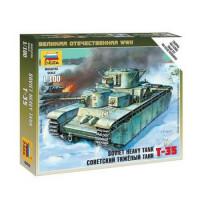 ЗВЕЗДА 11-101275 Сборная Модель 1:100 Советский тяжелый танк Т-35 6203