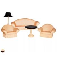 Прочие 11-101561 Мебель для кукол Коллекция Набор мягкой мебели для гостиной (5 предметов) (пластик) (в коробке) (от 3 лет) 01497-С-1302, (Огонек)