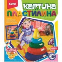 "LORI 11-102001 Картина из пластилина LORI Пирамидка (комплект материалов для изготовления) (в коробке) (от 3 лет) Пк001, (ООО ""7-Я"")"