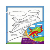 Рыжий кот 11-104844 Картина по номерам Самолетик (15*15см, акриловые краски, кисть) Х-9823, (Рыжий кот)