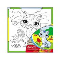 Рыжий кот 11-106923 Картина по номерам Котенок (15*15см, акриловые краски, кисть) Х-9816, (Рыжий кот)