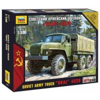 ЗВЕЗДА 11-107219 Сборная модель 1:100 Советский армейский грузовик Урал-4320 7417