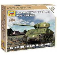 ЗВЕЗДА 11-112062 Сборная Модель 1:100 Американский средний танк М4А2 Шерман 6263