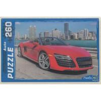 Рыжий кот 11-116820 Пазлы 260 дет. Красный автомобиль П260-0562, (Рыжий кот)