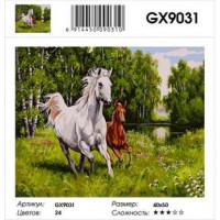 YIWU XINSHIXIAN ARTS AND CRAFTS CO.,LTD 11-120047 Картина по номерам Два скакуна (40*50см, холст на подрамнике, кисти, акриловые краски) GX9031