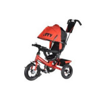 Прочие 11-132532 Велосипед-коляска CITY JW7RB (3-х колесный,ручка управления,надувные колеса d=12 и 10 дюймов,регулируемая спинка) (красный), (SHENZHEN GBC GLORY BUSINESS CORPORATION LTD)