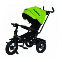 Прочие 11-132536 Велосипед-коляска LAMBORGHINI L4G (3-х колесный,ручка управления,надувные колеса d=10 и 12 дюймов,поворотное сиденье,регулируемая спинка) (зеленый), (SHENZHEN GBC GLORY BUSINESS CORPORATION LTD)