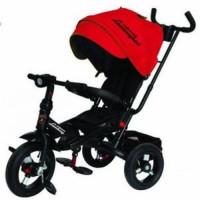 Прочие 11-132537 Велосипед-коляска LAMBORGHINI L4R (3-х колесный,ручка управления,надувные колеса d=10 и 12 дюймов,поворотное сиденье,регулируемая спинка) (красный), (SHENZHEN GBC GLORY BUSINESS CORPORATION LTD)