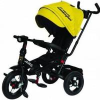 Прочие 11-132538 Велосипед-коляска LAMBORGHINI L4Y (3-х колесный,ручка управления,надувные колеса d=10 и 12 дюймов,поворотное сиденье,регулируемая спинка) (желтый), (SHENZHEN GBC GLORY BUSINESS CORPORATION LTD)