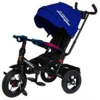 Прочие 11-132540 Велосипед-коляска LAMBORGHINI L4B (3-х колесный,ручка управления,надувные колеса d=10 и 12 дюймов,поворотное сиденье,регулируемая спинка) (синий), (SHENZHEN GBC GLORY BUSINESS CORPORATION LTD)