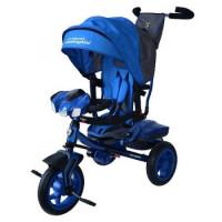 Прочие 11-135895 Велосипед-коляска LAMBORGHINI L3B (3-х колесный,ручка управления,надувные колеса d=10 и 12 дюймов,регулируемая спинка,свет,звук,LCD дисплей) (синий), (SHENZHEN GBC GLORY BUSINESS CORPORATION LTD)