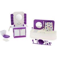 Прочие 11-136116 Мебель для кукол Конфетти Ванная комната (19 предметов) (пластик) (в коробке) (от 3 лет) С-1333, (Огонек)