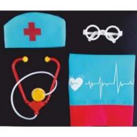 Лидер ПК 11-140638 Игровой набор Медик (накидка, колпак, стетоскоп, очки) (текстиль, пластик) (от 3 лет) 81817