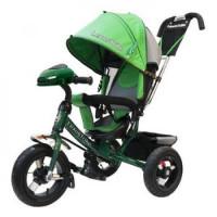 Прочие 11-145742 Велосипед-коляска LEXUS TRIKE 950M3-N1210-GREEN (3-х колесный, надувные колеса d=12 и 10 дюймов, регулируемая спинка, светомузыкальная панель, задний тормоз) (зеленый), (HANGZHOU JOY SHINE IMP & EXP CO.,LTD)