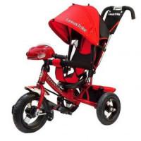 Прочие 11-145744 Велосипед-коляска LEXUS TRIKE 950M4-N1210-RED (3-х колесный, надувные колеса d=12 и 10 дюймов, регулируемая спинка, светомузыкальная панель, задний тормоз) (красный), (HANGZHOU JOY SHINE IMP & EXP CO.,LTD)