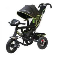 Прочие 11-145745 Велосипед-коляска LEXUS TRIKE LTSPORT 950M2S-N1210-GREY+GREEN (3-х колесный, надувные колеса d=12 и 10 дюймов, регулируемая спинка, светомузыкальная панель) (зеленый+черный), (HANGZHOU JOY SHINE IMP & EXP CO.,LTD)