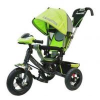 Прочие 11-145749 Велосипед-коляска LEXUS TRIKE 950M2-N1210-LIME (3-х колесный, надувные колеса d=12 и 10 дюймов, регулируемая спинка, светомузыкальная панель, задний тормоз) (лайм), (HANGZHOU JOY SHINE IMP & EXP CO.,LTD)