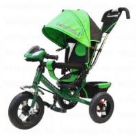 Прочие 11-145750 Велосипед-коляска LEXUS TRIKE 950M2-N1210-GREEN (3-х колесный, надувные колеса d=12 и 10 дюймов, регулируемая спинка, светомузыкальная панель, задний тормоз) (зеленый), (HANGZHOU JOY SHINE IMP & EXP CO.,LTD)