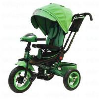 Прочие 11-145754 Велосипед-коляска LEXUS TRIKE T400M2-N1210-GREEN (3-х колесный, надувные колеса d=12 и 10 дюймов, светомузыкальная панель, складной руль) (зеленый), (HANGZHOU JOY SHINE IMP & EXP CO.,LTD)