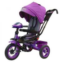 Прочие 11-145755 Велосипед-коляска LEXUS TRIKE T400M2-N1210-VIOLET (3-х колесный, надувные колеса d=12 и 10 дюймов, светомузыкальная панель, складной руль) (фиолетовый), (HANGZHOU JOY SHINE IMP & EXP CO.,LTD)
