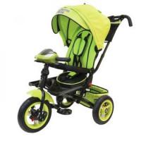 Прочие 11-145756 Велосипед-коляска LEXUS TRIKE T400M2-N1210-GREEN+BLACK (3-х колесный, надувные колеса d=12 и 10 дюймов, светомузыкальная панель, складной руль) (зеленый+черный), (HANGZHOU JOY SHINE IMP & EXP CO.,LTD)