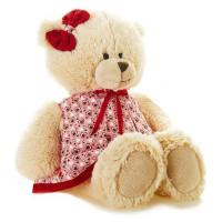 Прочие 11-152416 Мягкая игрушка Мишка Лина в платье (25см) TS-A6799-32G, (Shanghai TS Toys Co., Ltd)
