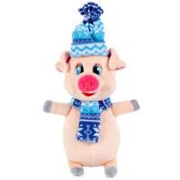 Прочие 11-156179 ИграемВместе Мягкая игрушка Поросенок в синем шарфе и шапке (17см) (в пакете) F9351-17B, (Shanghai First Arts&Crafts Co., Ltd)