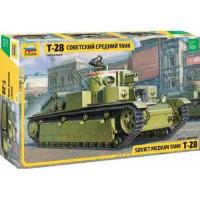 ЗВЕЗДА 11-163315 Сборная модель 1:35 Советский средний танк Т-28 3694, (Звезда)