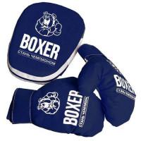 Лидер ПК 11-163630 Боксерский набор №7 (лапа, перчатки) (в сетке) 99818