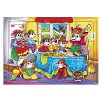 Рыжий кот 11-165852 Пазл в рамке 24 дет. Волк и семеро козлят П24-5760, (Рыжий кот)