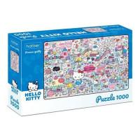 HATBER 11-174914 Пазлы 1000 дет. Hello Kitty (Premium) 1000ПЗ2_22716, (Хатбер-М)