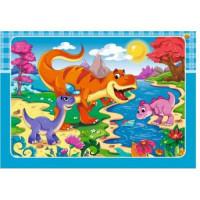 Рыжий кот 11-175543 Пазл в рамке 12 дет. Динозавры №6 П-3176, (Рыжий кот)